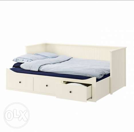 Day-bed frame with 3 drawers, white, 80x200 cm الغردقة -  2