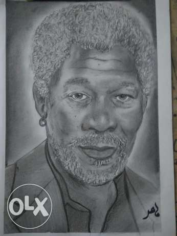 Morgan Freeman drawing