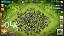 Coc th9 lvl 104 with clan lvl 6