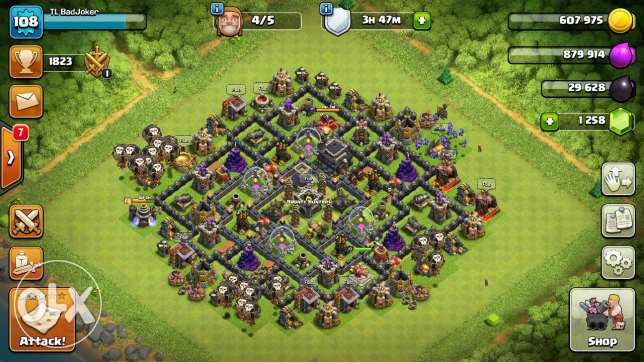 Clash Of Clans TH9 Max
