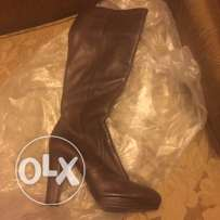 Brown Leather Boots size 40/41