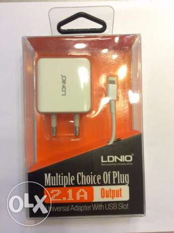 Ldnio dual (2) USB power Adapter Lightning Cable