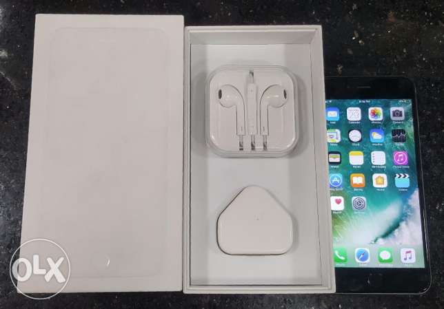 For sale iphone 6 plus 128g gray like new with box and all accessories