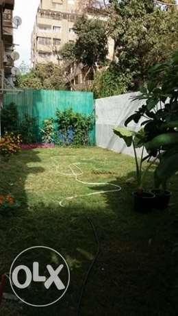 A ground floor with a nice garden in Maadi for rent!