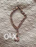 Beads necklace brown color