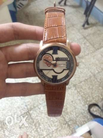 brown cartier watch original