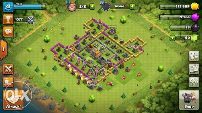 Clash of clanes email 41 level town hall level 7
