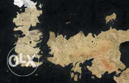 Game Of Thrones Map Painting 100CM*70CM HD