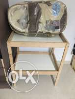 carry coat + baby changing shelf
