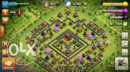 clash of clans account th10
