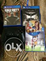 ps4 + fifa 17 (online) + 4 new games