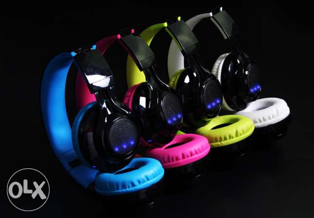 Led Headset Buletooth for the first time in egypt -NEW-