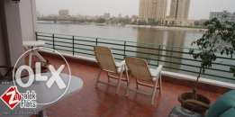 Furnished luxury Nile View Apartment For Rent In Zamalek