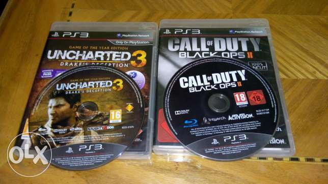 Uncharted 3 (175) + call of duty (175)./// infamous 2 (100)