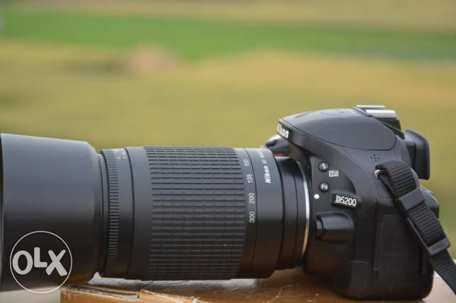 Nikon 5200+lens nikon 70.300..shutter 11k only .very good codition