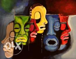 Faces painting
