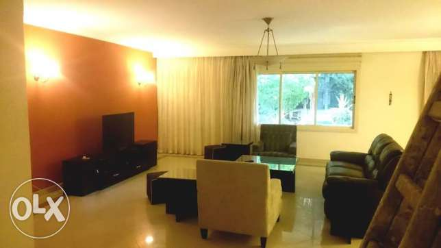 for foreigners only 3 flat furnished 3 bedrooms ground floor in degla