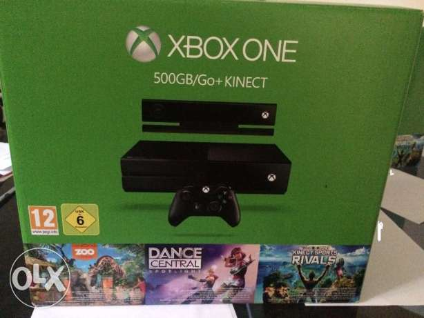 Xbox One 500 GB with kinect (New) with 3 games
