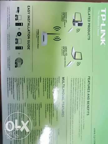 جهاز TP-Link TL-WN722N 150 Mbps High Gain Wireless USB Adapter