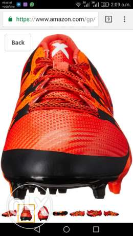 حذاء كرة قدم اصلي adidas Men's X 15.3 FG/AG Bold Orange/ جديد ب 950