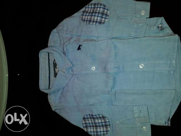 H& m blue shirt excellent condition from 4 to 6 month