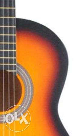 (fitness classic guitar (wood color / orange