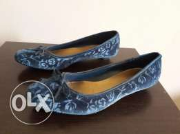 Blue Velvet kitten heels from USA
