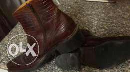 Original genuine croc leather boots
