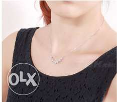 JewelOra Female Silver 925 With Austrian Crystal Jewelry Necklace