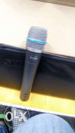 Shure beta 57a for music instruments and vocals