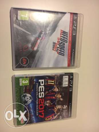 Pes 2017 arabic and Need for Speed rivals