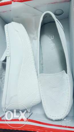 BM white shoes