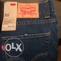 new Levi's blue slim fit jeans