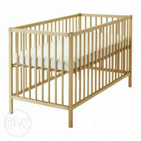 Baby crib with mattress and side rail pampers and net حى الجيزة -  4