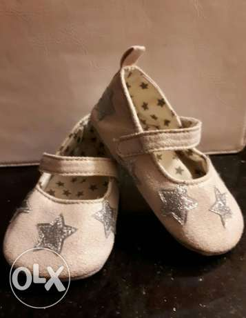 Nude Shoe with Silver Stars جزمة بيج بنجوم فضى