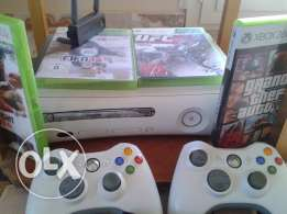 Xbox 360 live(online) From Germany with 4 original gamesوارد الماني
