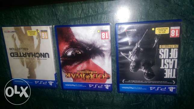 Last of us ,god of war ,uncharted 300 per cd