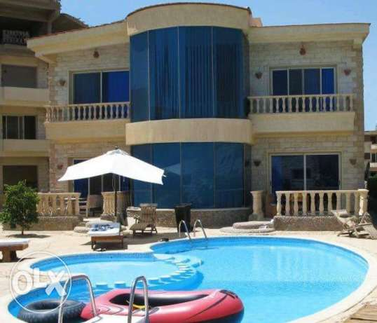 Villa sale palma resort hurghada 226 m beachfront seaview green contrc