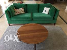 IKEA three seat sofa green