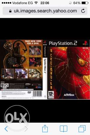 CD Spider-man 2 for playstation2 اصلي عجمي -  2