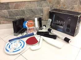 Wii console with extra playing accessories