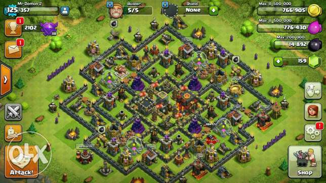 Clash of clans townhall10 المعادي -  1