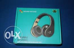 BRAND NEW Sound Intone I60 Foldable Headphone with Microphone - Gold