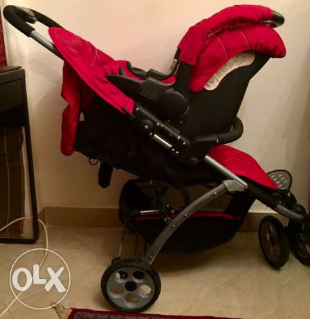 Mothercare Vesta 3 - Wheeler Travel System - Flame Red المقطم -  1