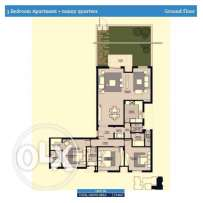 Apartment For Sell In Courtyards 3 with Garden