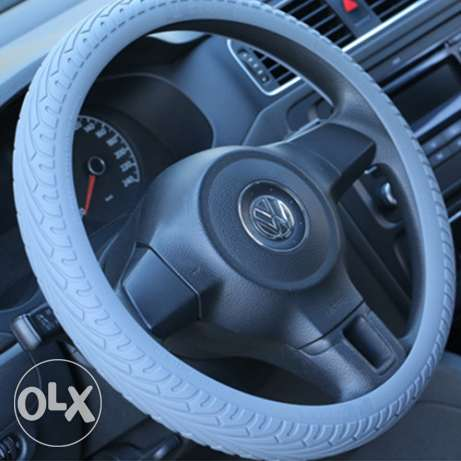 Silicon Fashionable Steering Wheel Cover Black