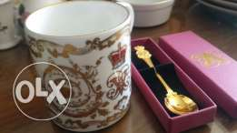 Royal set mug and spoon