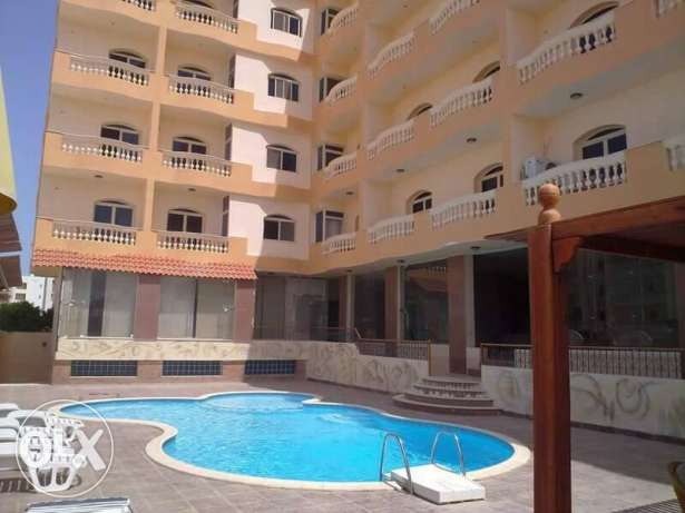 Flat in Kawther, near Airport road, sw. pool, 65 sqm, 1 bedroom الغردقة -  8