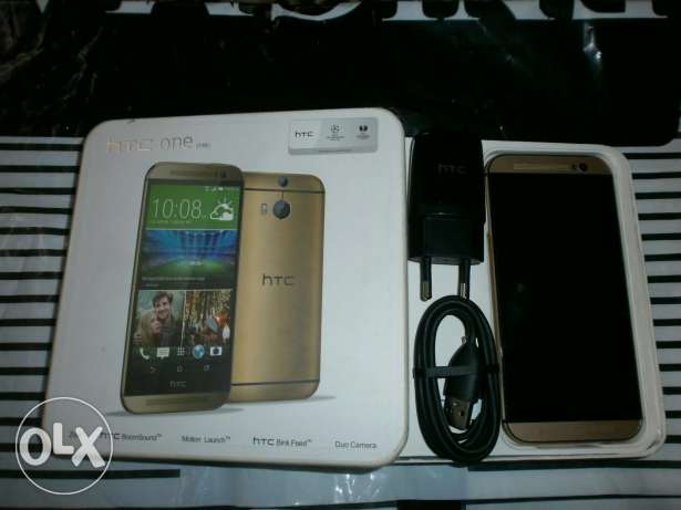 """Htc One M8 Gold 32G """"like new"""""""