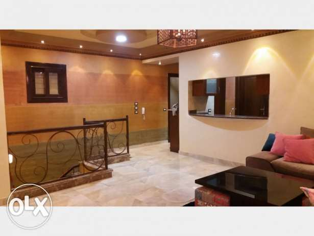 (the most luxurious Furnished Duplex in Fifth Avenue(new cairo